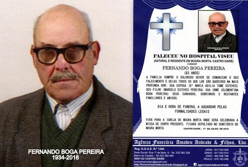 FOTO RIP DE FERNANDO BOGA PEREIRA-83 ANOS (MOURA M