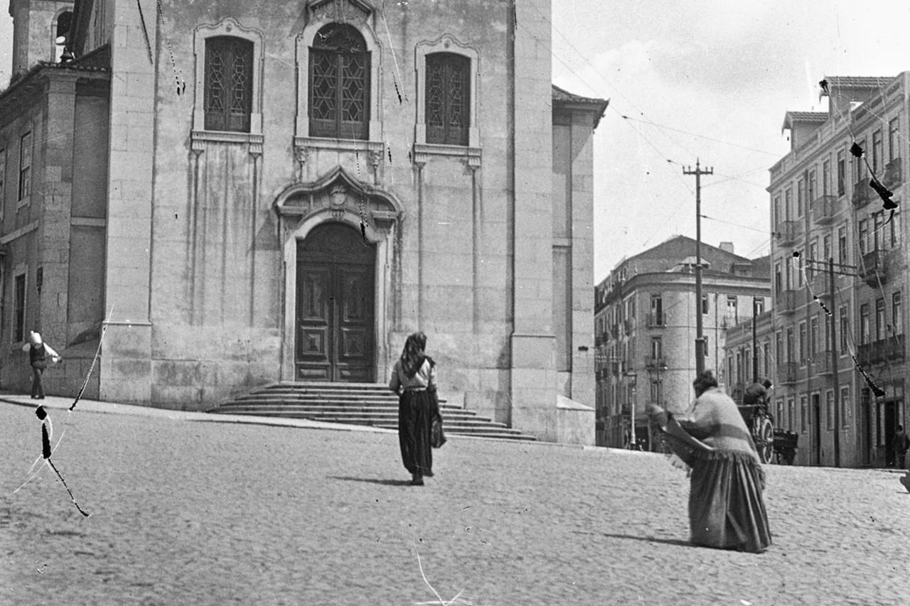 Igreja de Arroios e Estr. de Sacavém edificada, Arroios (J.A.L. Barcia, post 1901)