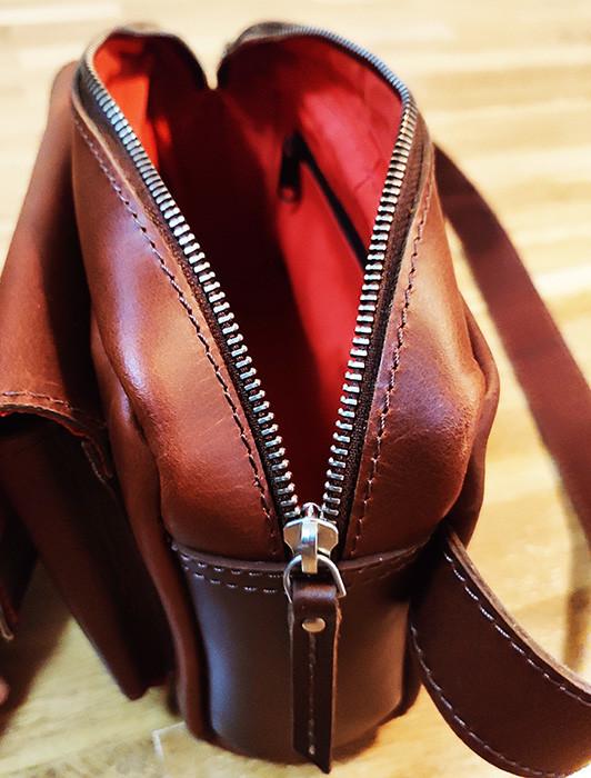 bolsa de cintura pele marrom
