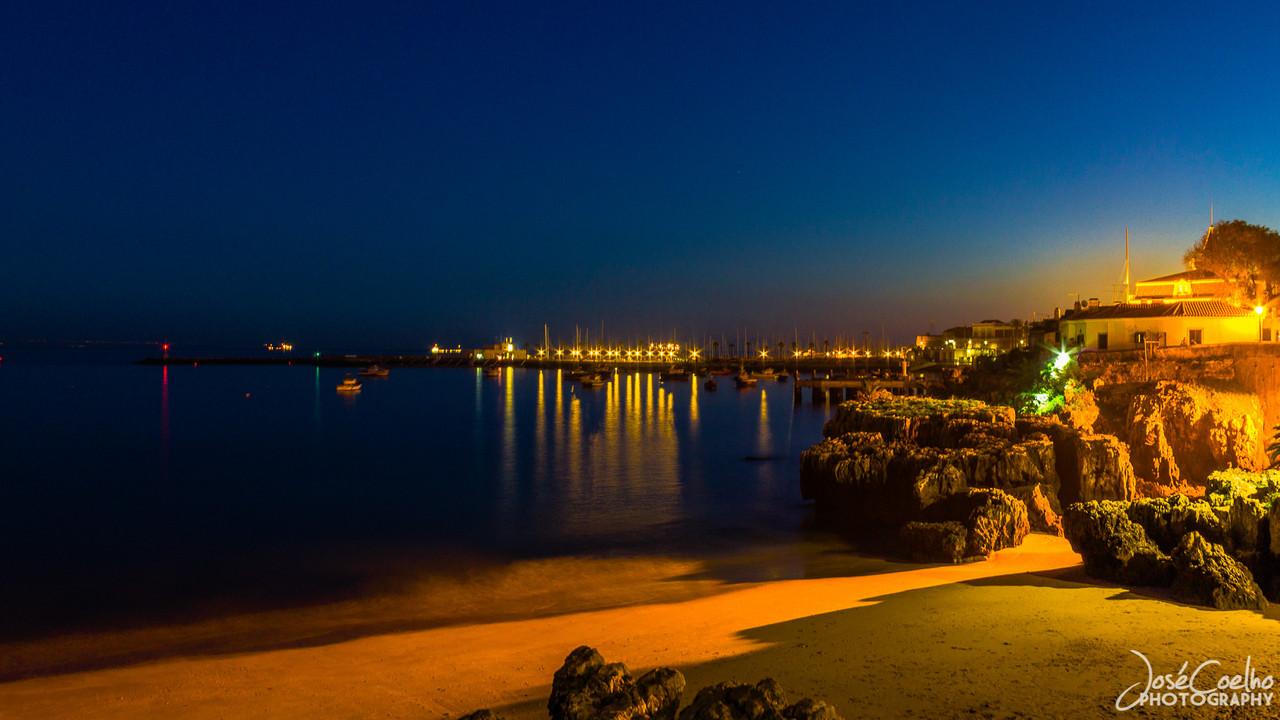 cascais by night, praia da rainha, noite, fotografia noturna