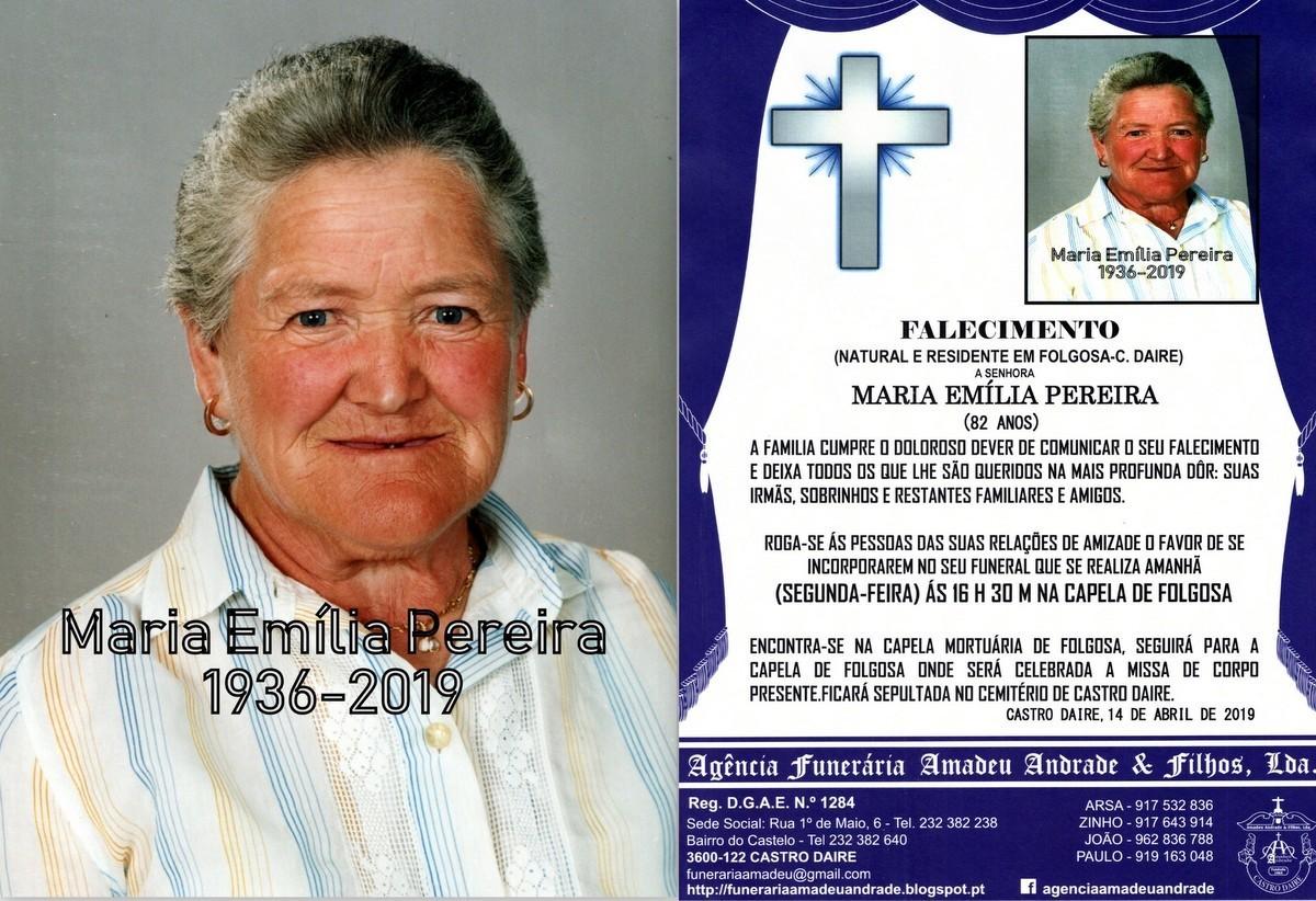 RIP FOTO - MARIA EMÍLIA PEREIRA-82 ANOS (FOLGOSA)