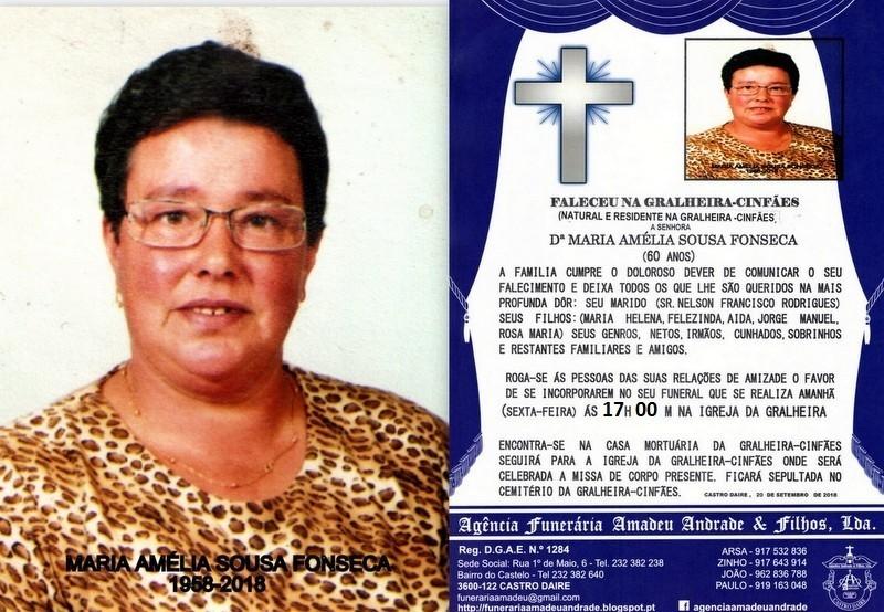 FOTO RIP- DE MARIA AMÉLIA SOUSA FONSECA-60 ANOS (