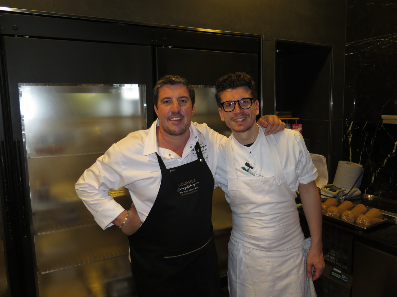 Claude Bosi e o seu Head Chef Francesco Dibenedetto
