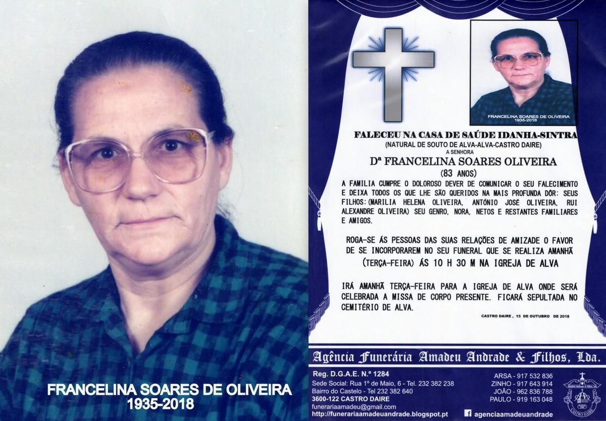 FOTO RIP DE FRANCELINA SOARES DE OLIVEIRA-83 ANOS
