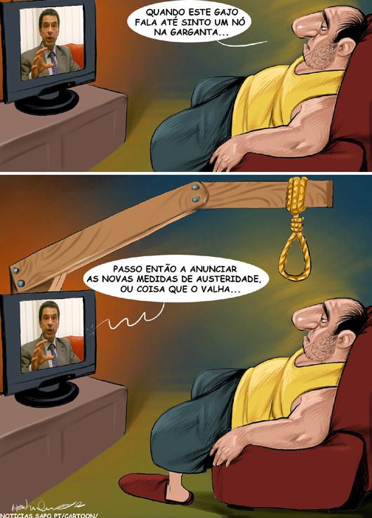 Cartoons - Vítor Gaspar anuncias as novas medidas de austeridade