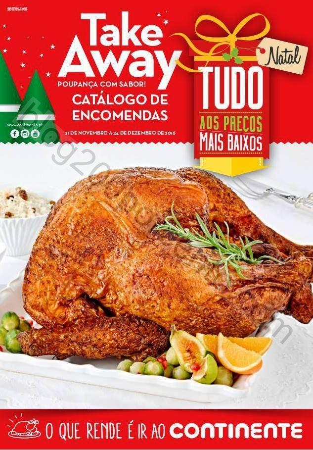 Novo Folheto Take Away Natal CONTINENTE de 21 nove