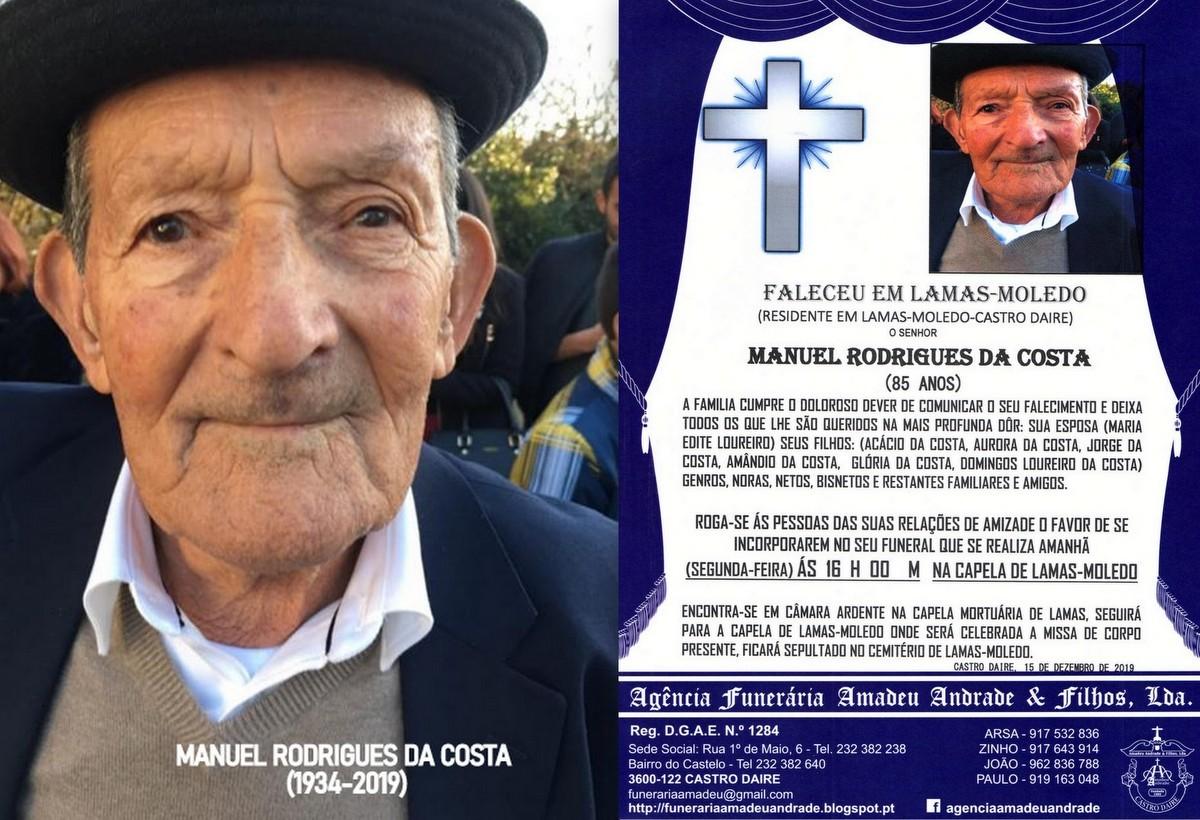 FOTO RIP  DE MANUEL RODRIGUES DA COSTA-85 ANOS(LAM