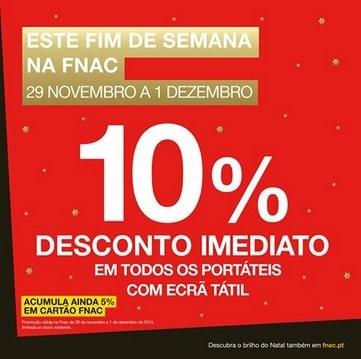10% desconto | FNAC | Portáteis