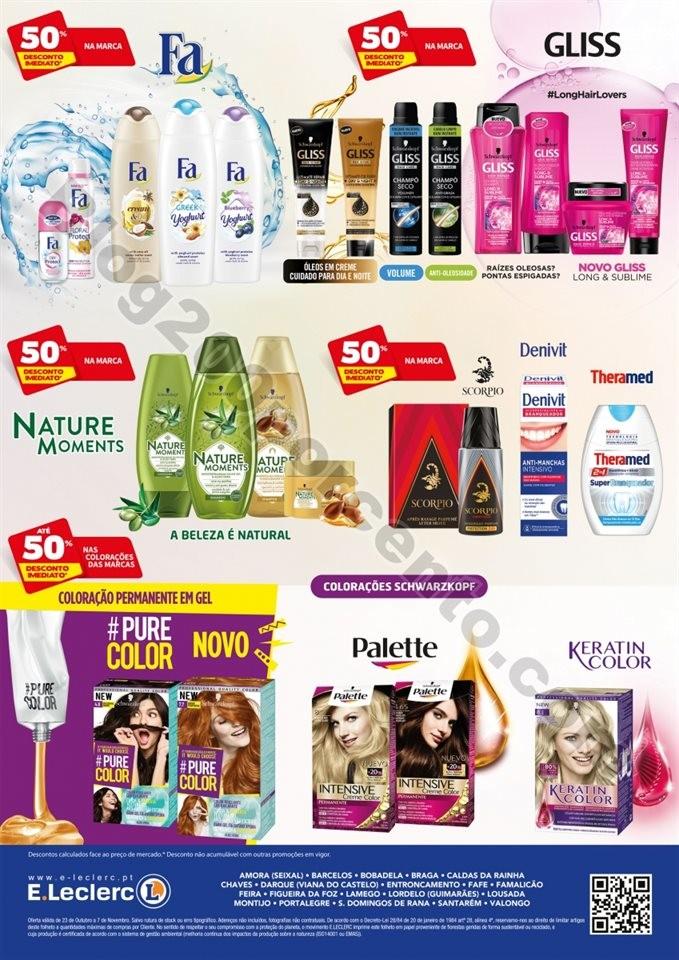 Novo folheto E-LECLERC Beleza promoções até 7 n
