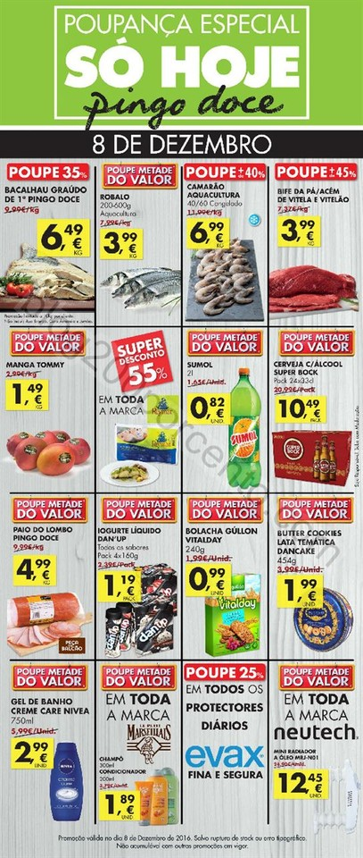Folheto PINGO DOCE Extra só hoje dia 8 dezembro p