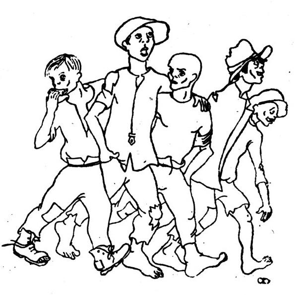 Ilustração dos «Esteiros» pelo Cunhal (lindeza em pcp.pt)