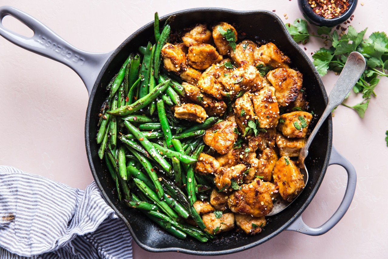 crispy-chicken-stir-fry-with-blistered-green-beans