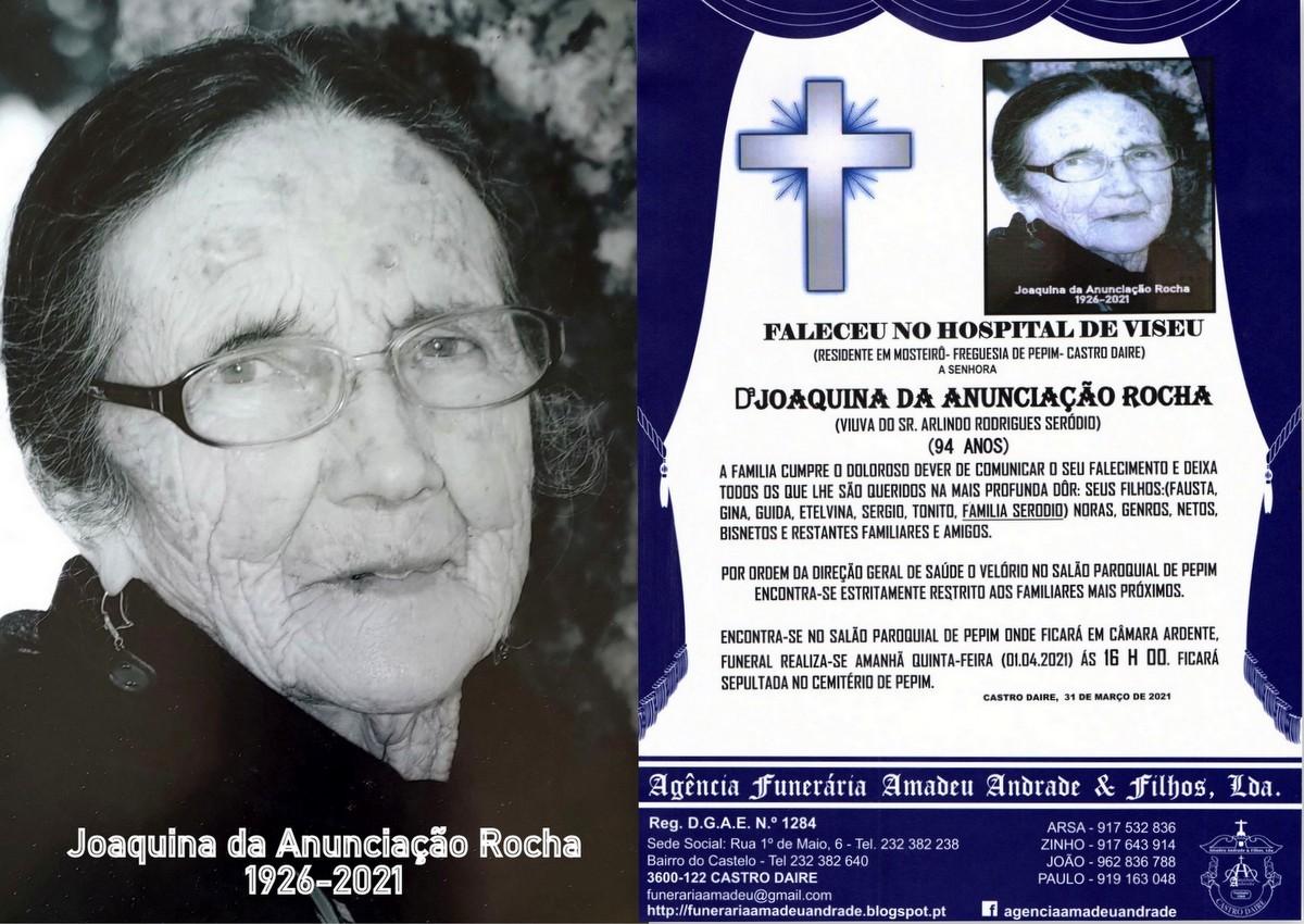 FOTO RIP JOAQUINA DA ANUNCIAÇÃO ROCHA-96 ANOS (M