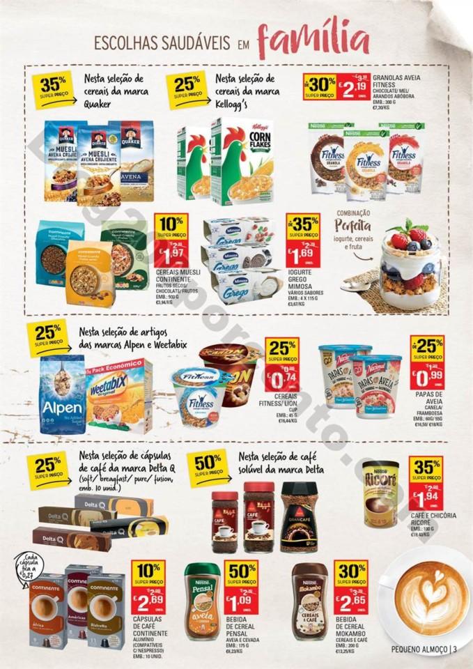 Antevisão Folheto CONTINENTE Extra pequeno almoç