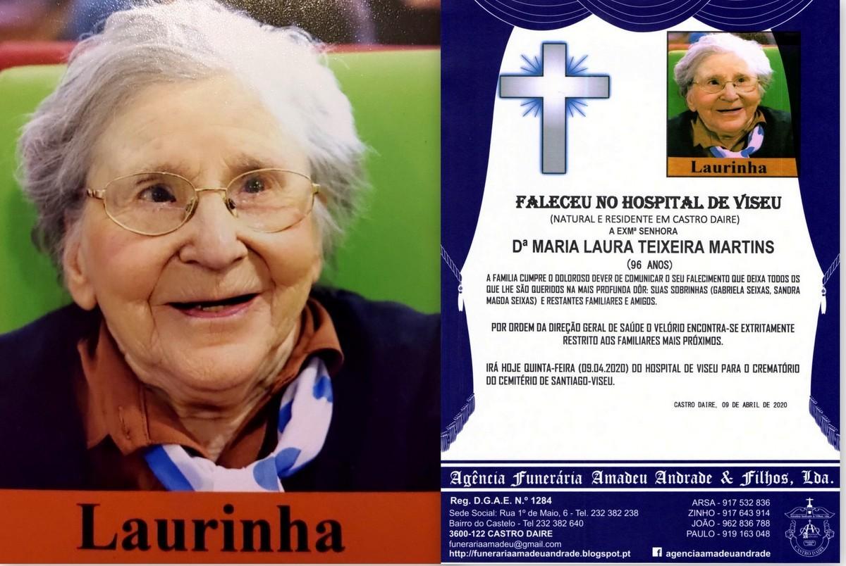 FOTO RIP DE MARIA LAURA TEIXEIRA MARTINS-96 ANOS (