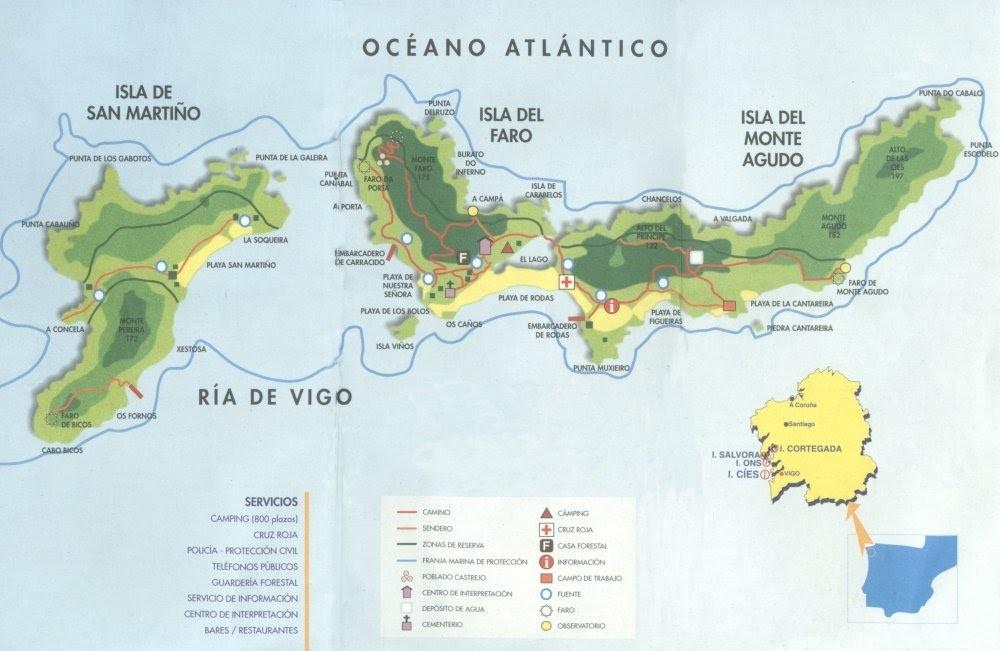 ilhas cies mapa Destinos #6 Islas Cíes   Claire Your Mind ilhas cies mapa