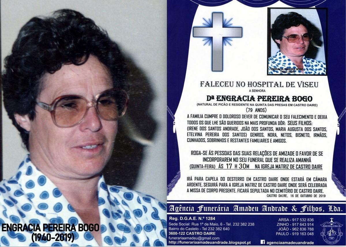 FOTO RIP DE ENGRÁCIA PEREIRA BOGO-79 ANOS (CASTRO