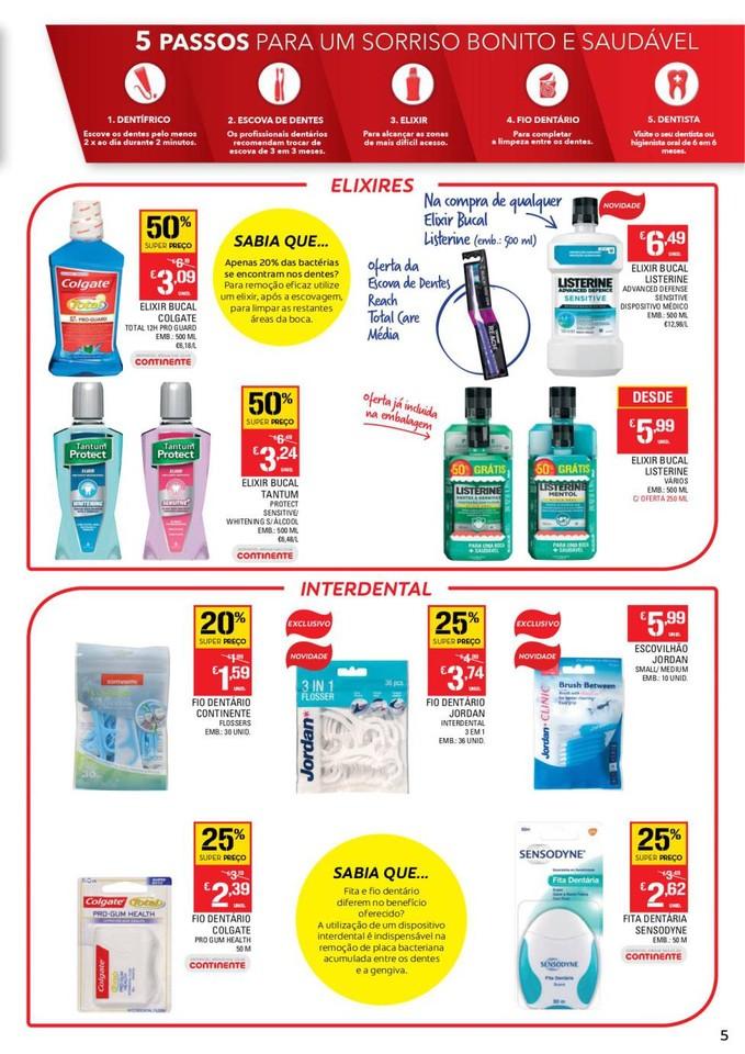 Antevisão folheto CONTINENTE Higiene oral 3 outub