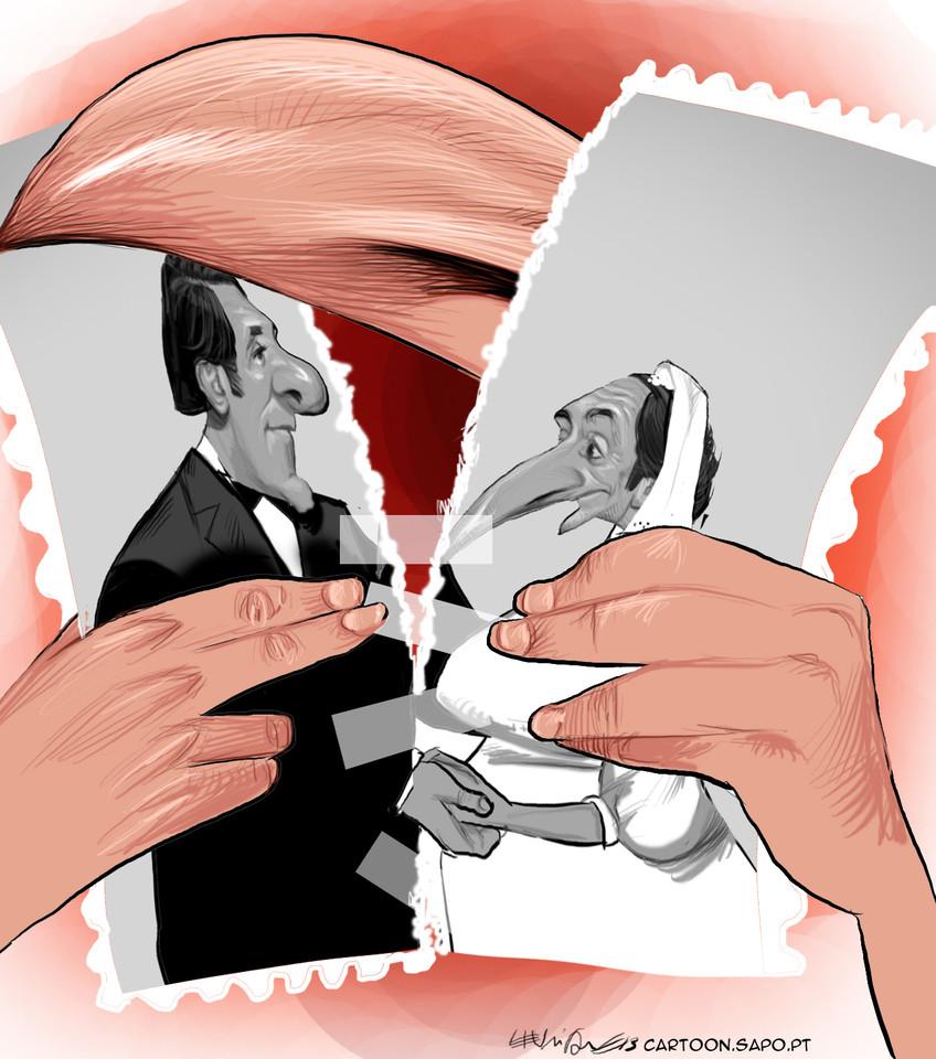 Cartoons - A reconciliação entre Paulo Portas e Pedro Passos Coelho