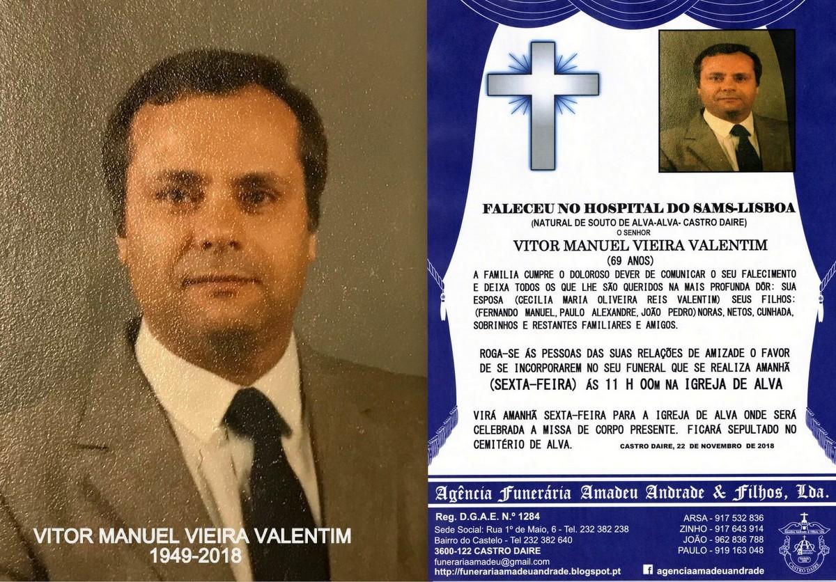 FOTO RIP-VITOR MANUEL VIEIRA VALENTIM-69 ANOS (SOU