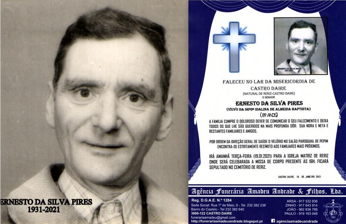 RIP FOTO -ERNESTO SILVA PIRES-89 ANOS (RERIZ-CASTR