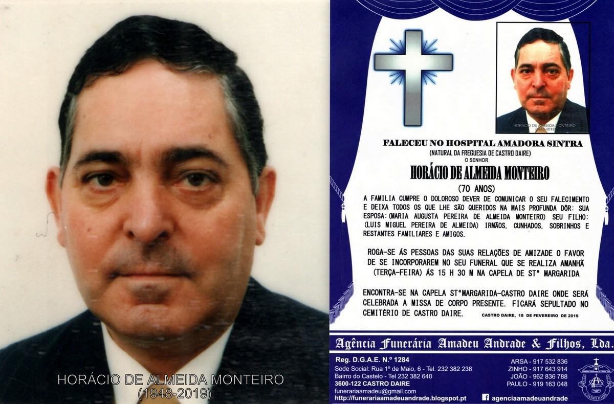 FOTO RIP- DE HORACIO DE ALMEIDA MONTEIRO-70 ANOS (