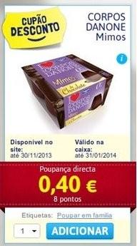 Acumulação 25% + vale | CONTINENTE | Sobremesas Danone