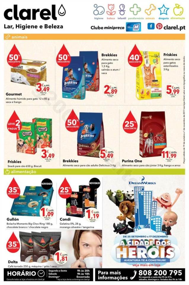 Antevisão Folheto CLAREL Promoções de 19 outubr