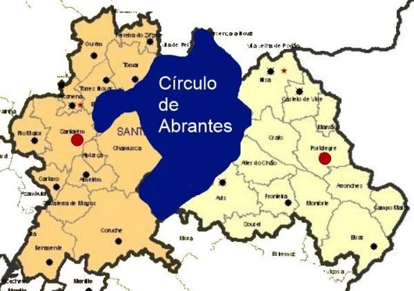 mapa portugal abrantes A anunciada sentença de morte de Abrantes e Ponte de Sor   COLUNA  mapa portugal abrantes
