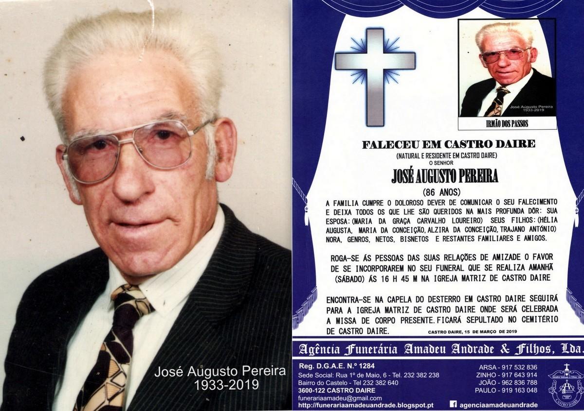 FOTO RIP  DE JOSÉ AUGUSTO PEREIRA -86 ANOS (CASTR