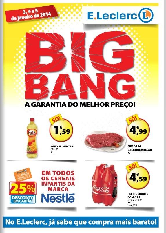 Antevisão Folheto | E-LECLERC | BigBang 3 a 5 janeiro