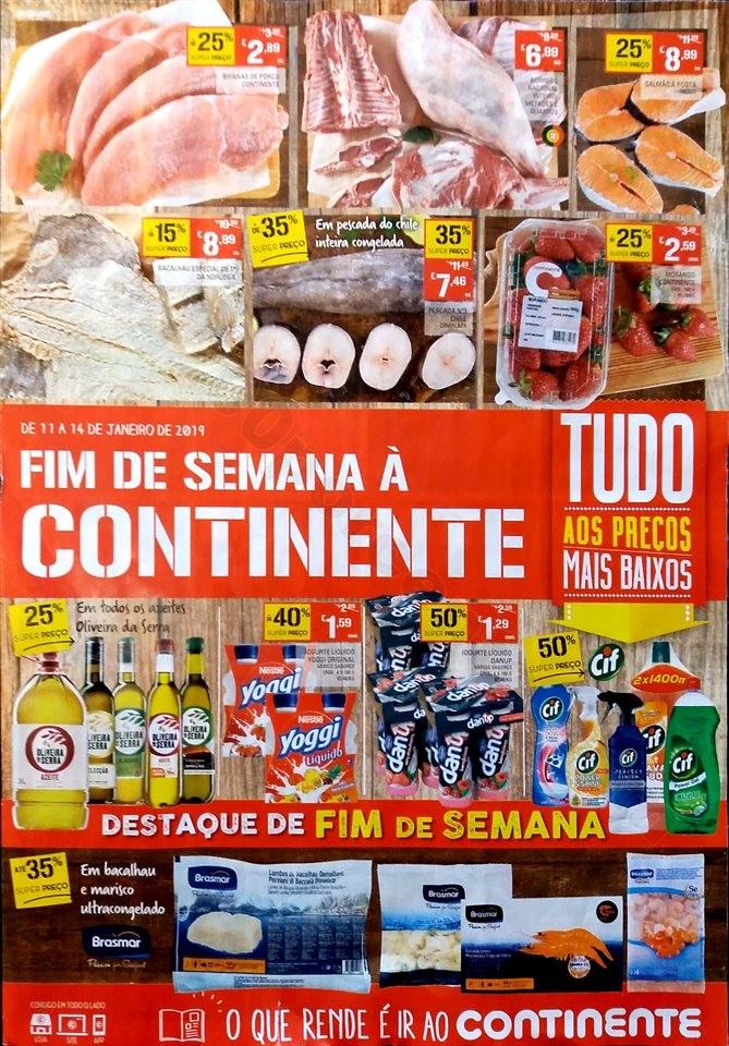 Antevisão Folheto Continente Fim Semana 11a14jan