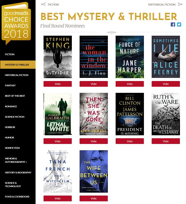 Goodreads Choice Awards 2018 -