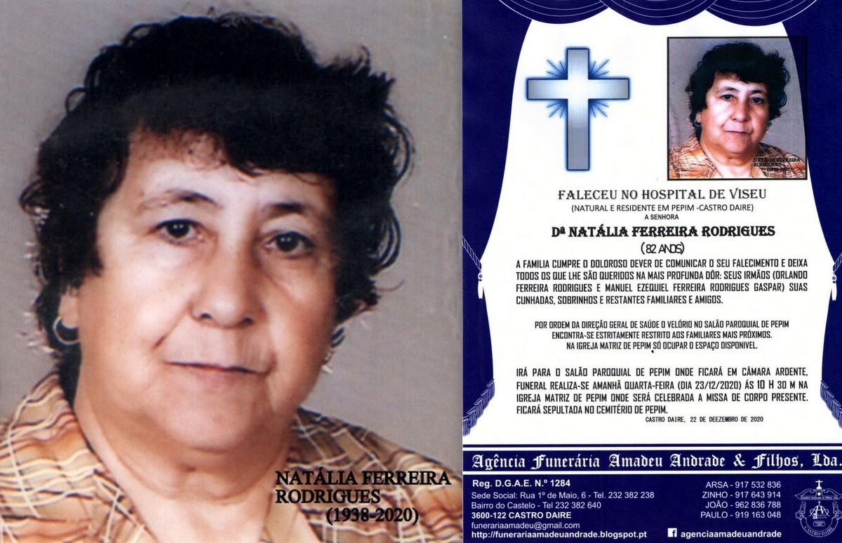 FOTO RIP DE NATÁLIA FERREIRA RODRIGUES-82 ANOS (P