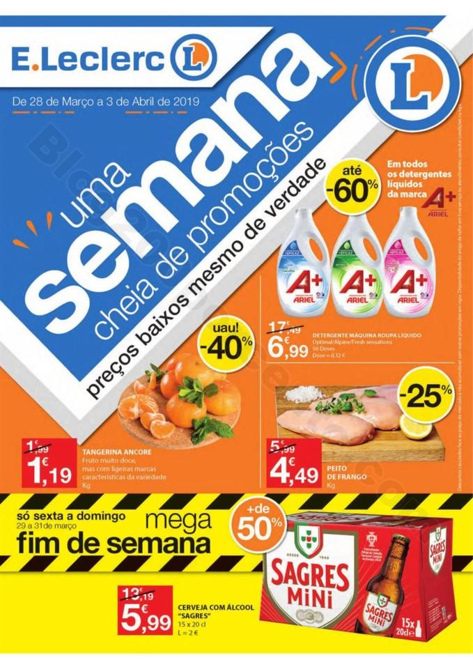 Antevisão Folheto E-LECLERC Promoções de 28 mar