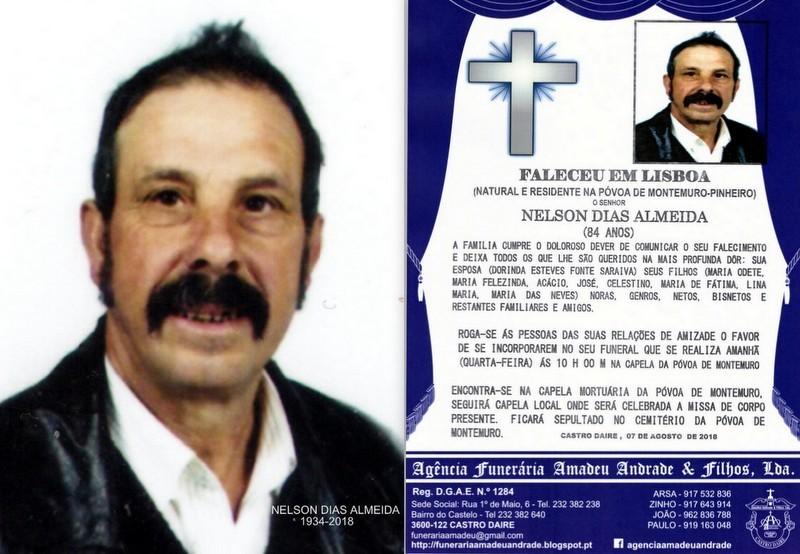 FOTO RIP DE NELSON DIAS ALMEIDA -84 ANOS (PÓVOA D