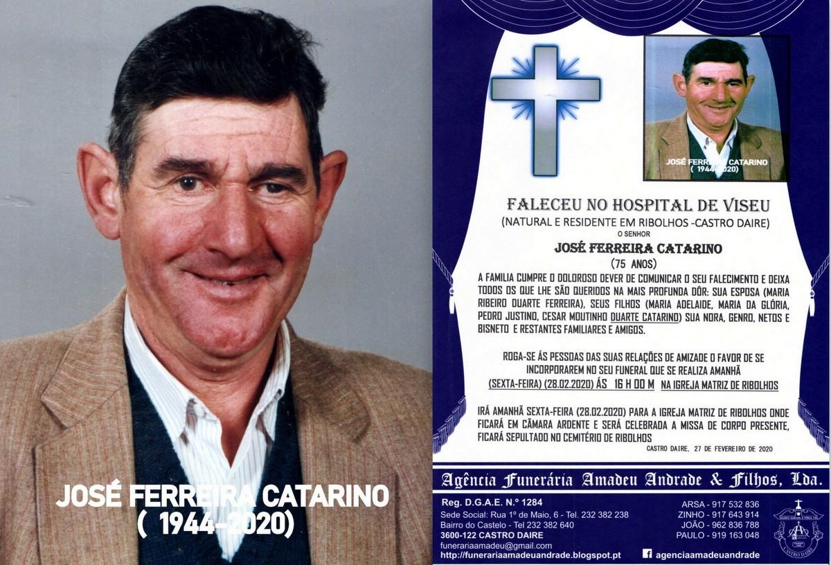 RIP -FOTO DE JOSÉ FERREIRA CATARINO-75 ANOS (RIBO