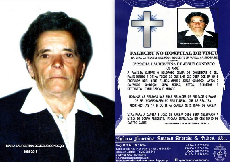 FOTO RIP DE MARIA LAURENTINA DE JESUS CONDEÇO-83