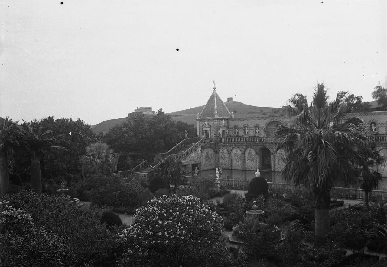 Palácio Marquês de Fronteira, vista do grande la