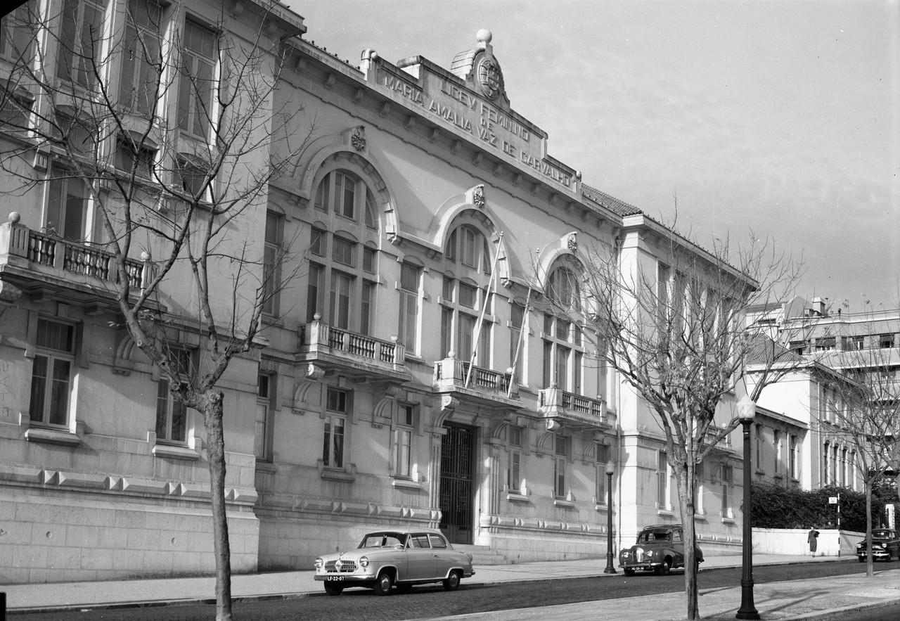 Liceu Maria Amália Vaz de Carvalho, 1958, foto de