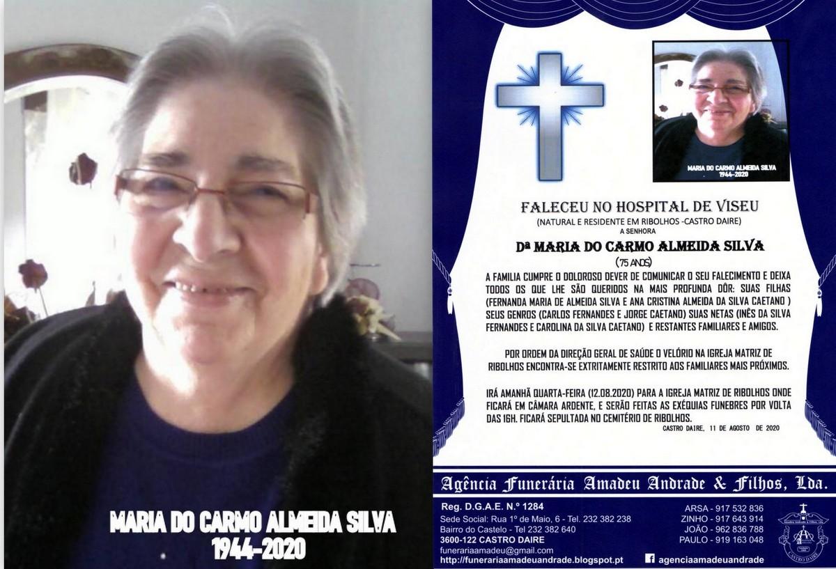 FOTO RIP DE MARIA DO CARMO ALMEIDA SILVA-75 ANOS (