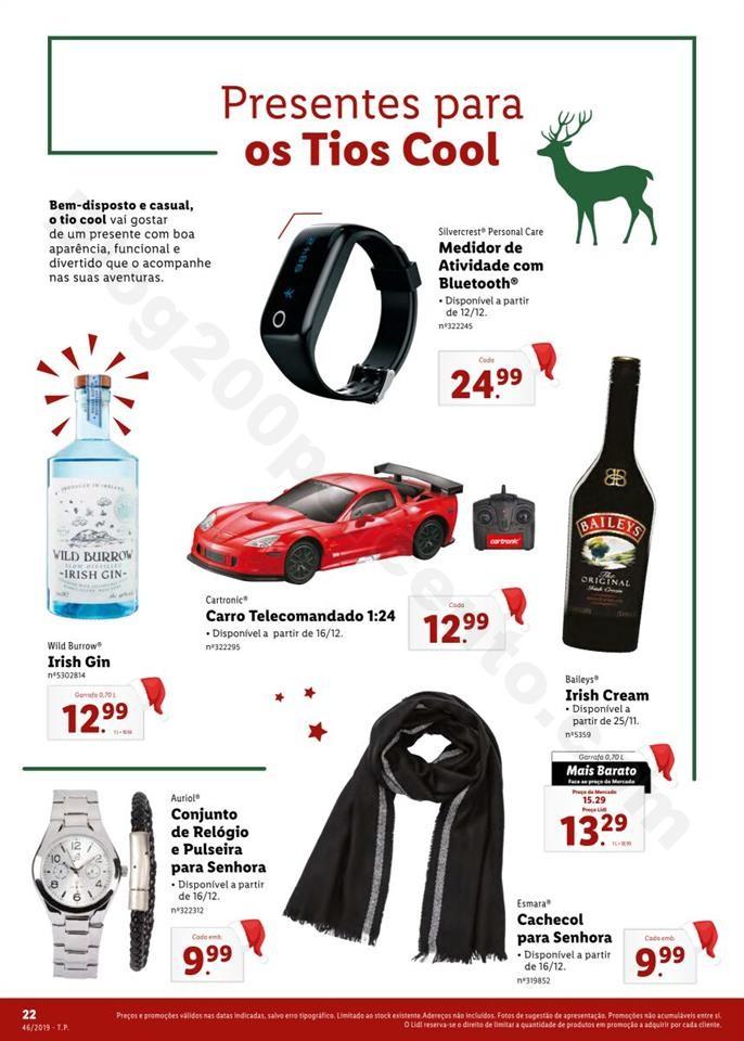 Folheto LIDL Presentes de Natal 11  novembro p22.j
