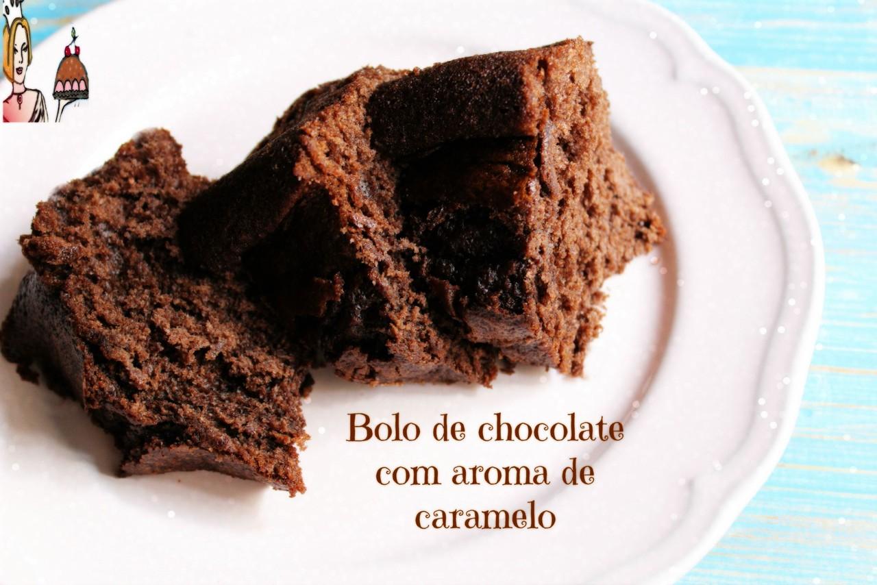 Bolo de chocolate com aroma de caramelo