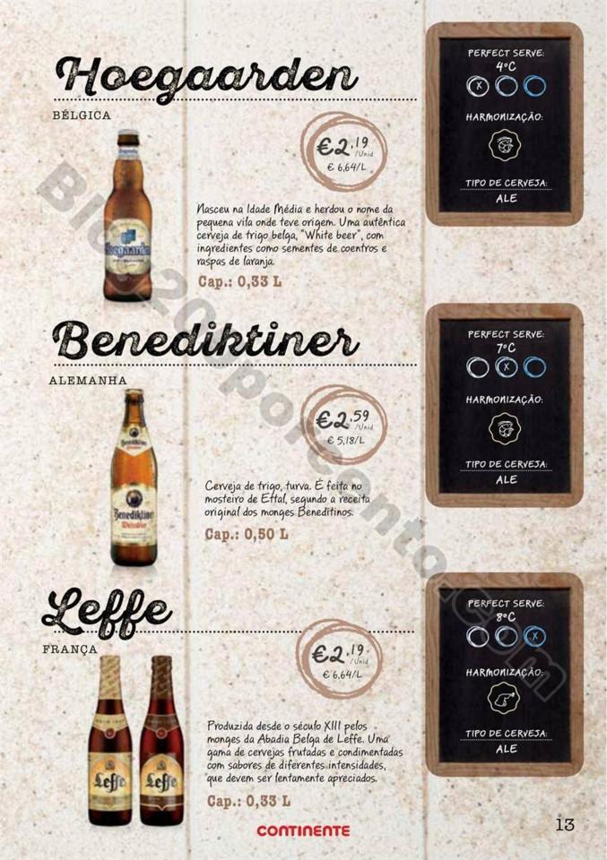 Antevisão Folheto CONTINENTE Especial cervejas de