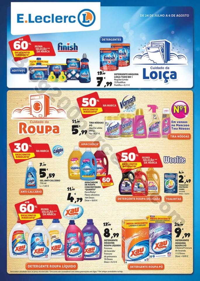 Extra E-LECLERC Limpeza promoções de 24 julho a