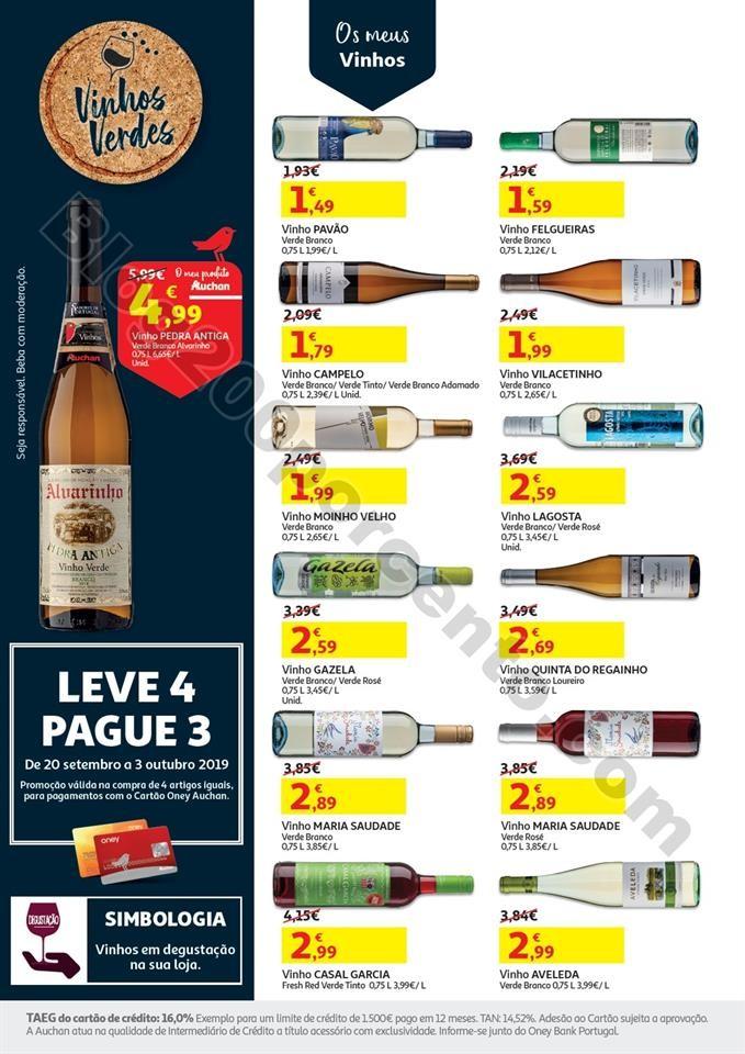Antevisão Folheto AUCHAN Vinhos e Sabores Promoç