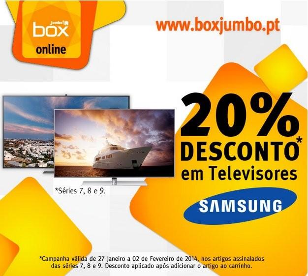20% de desconto imediato | JUMBO / BOX | Samsung