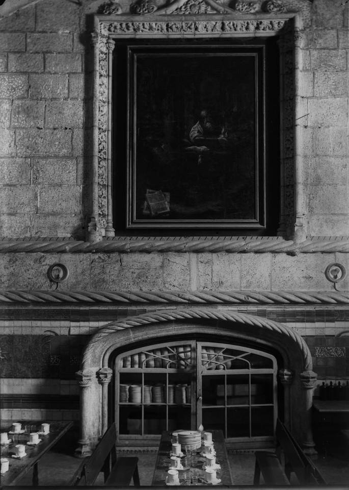 Lado Norte do refeitório, tela de S. Jerónimo, f