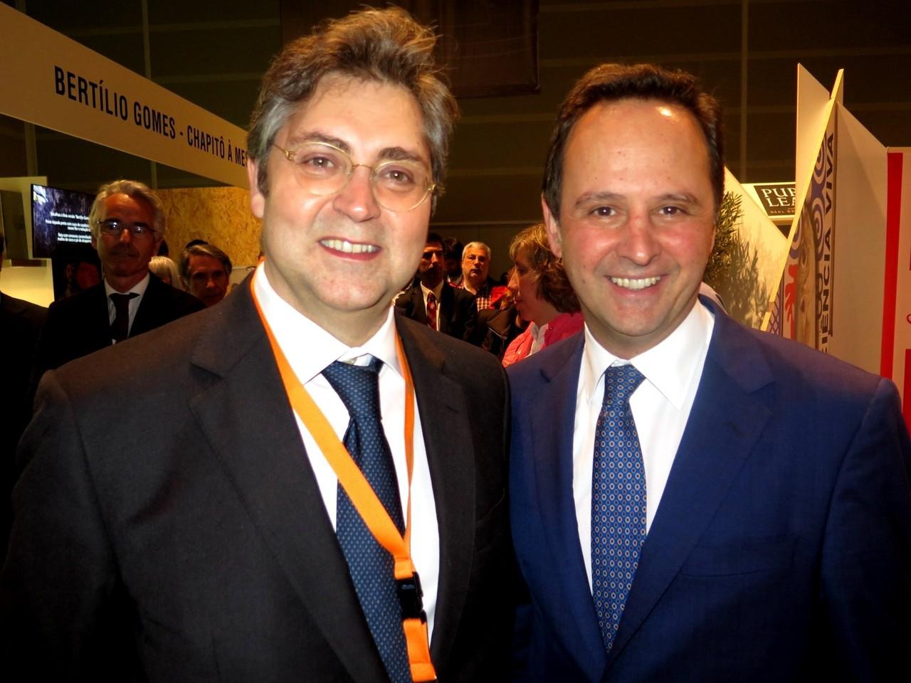 Duarte Calvão (Diretor do Peixe em Lisboa) e Fernando Medina (Presidente da Câmara Municipal de Lisboa)