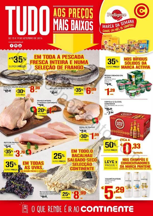 Antevisão Folheto CONTINENTE Promoções de 13 a